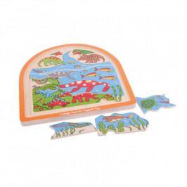 Bigjigs Toys Bigjigs Toys dřevěné vícevrstvé puzzle  - Dinosauři