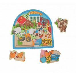 Bigjigs Toys Bigjigs dřevěné vícevrstvé puzzle Farma