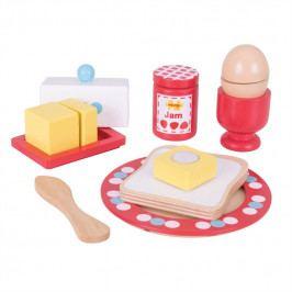 Bigjigs Toys Bigjigs Toys Dřevěný set snídaně s puntíky
