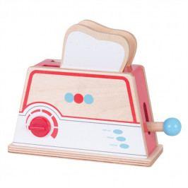 Bigjigs Toys Bigjigs Toys Dřevěný toaster s puntíky