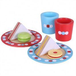 Bigjigs Toys Bigjigs Toys Dřevěné hračky - Set svačinka s puntíky