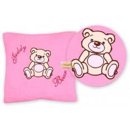 Baby Nellys Polštářek 40x40 Teddy Bear - sv. růžový