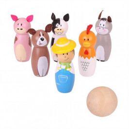 Bigjigs Toys Bigjigs Toys dřevěné hry - Kuželky farma