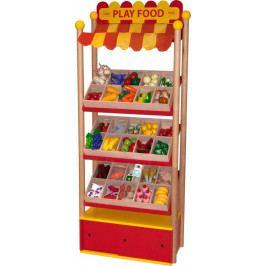 Bigjigs Toys Prodejní pult dřevěných potravin Bigjigs