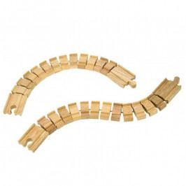 Bigjigs Rail Bigjigs Rail dřevěná vláčkodráha  - Ohebná kolej - 2kusy