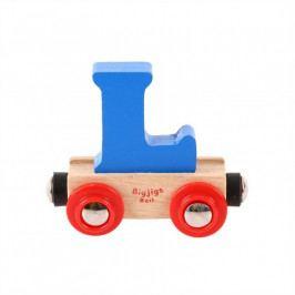 Bigjigs Rail Bigjigs Rail vagónek dřevěné vláčkodráhy - Písmeno L