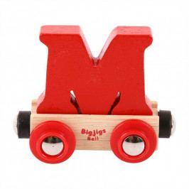 Bigjigs Rail Bigjigs Rail vagónek dřevěné vláčkodráhy - Písmeno M