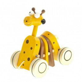 Česká dřevěná hračka Dřevěná tahací hračka - Žirafa klapací