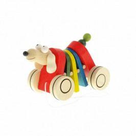 Česká dřevěná hračka Dřevěná tahací hračka - Pes klapací