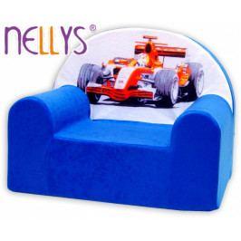 NELLYS Dětské křesílko/pohovečka Nellys ® - Formule v modrém