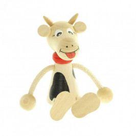 Česká dřevěná hračka Panáček kráva