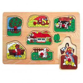 Vkládačky Dřevěné hračky - Vkládací puzzle - Vkládačka - Farma