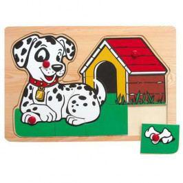 Vkládačky Dřevěné hračky - Vkládací puzzle - Vkládačka - Pejsek