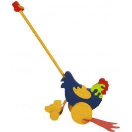 Fauna Dřevěné tahací hračky plácačka - Slepička s kuřátkem