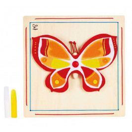 Hape HAPE dřevěné hračky - dřevěná kreativní sada motýl