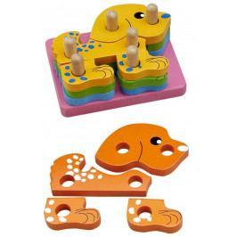 HJ Toys Motorické hračky - Nasazování na tyč - Puzzle pejsek