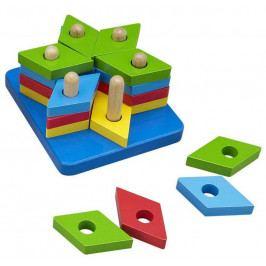 HJ Toys Motorické hračky - Nasazování na tyč - Puzzle hvězda