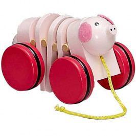 HJ Toys Dřevěné hračky - Tahací hračky - Tahací prasátko