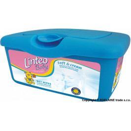 Linteo Baby Vlhčené ubrousky LINTEO BABY Soft&cream v krabičce - bílý