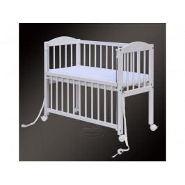 Dětská postýlka k posteli rodičů BABY Scarlett (borovice), st. bok - bílá 90 x 41 cm
