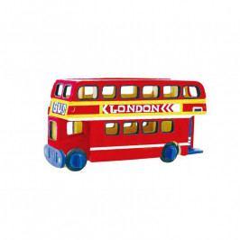 RoboTime Robotime dřevěná skládačka - Patrový autobus +barvy a štětec