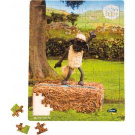 Small foot by Legler Dřevěné puzzle Ovečka Shaun tančící 100 dílků