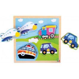 Small foot by Legler Dřevěná hračka - Puzzle Dopravní vozidla