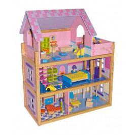Small foot by Legler Velký dřevěný růžový domeček pro panenky