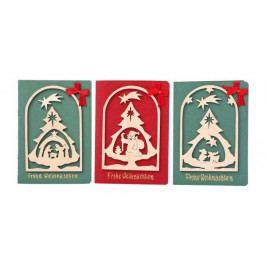 Small foot by Legler Vánoční dekorace - Pohlednice Vánoční sen 1ks