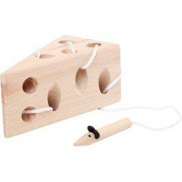 Small foot by Legler Hra na provlékání Sýr s myší - přírodní verze