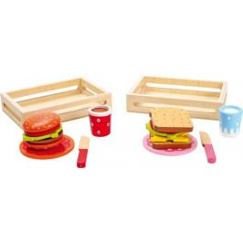 Small foot by Legler Dřevěné hračky - Hamburger a sendvič