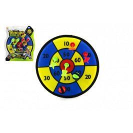 Teddies Terč na suchý zip 30cm 4 šipky + míčky 2ks na kartě