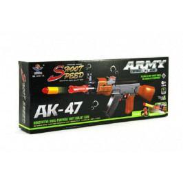 Teddies Samopal na pěnové náboje AK47 plast 54cm v krabici