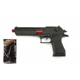 Teddies Pistole jiskřící plast 26cm na setrvačník na kartě