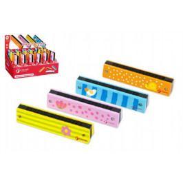 Teddies Harmonika Princess dřevo 13x2,7x2,8cm asst 4 barvy 24ks v boxu