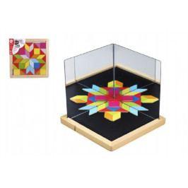 Teddies Magnetická tabulka se zrcadly dřevo 25x25x2,1cm 44ks