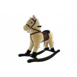 Teddies Kůň houpací béžový plyš výška 56cm nosnost 50kg v krabici