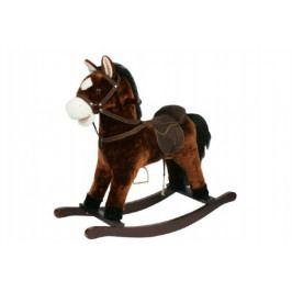 Teddies Kůň houpací hnědý plyš výška 56cm nosnost 50kg v krabici