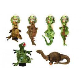 Teddies Maňásek dinosaurus 30cm plyš asst 3 druhy 2 barvy na kartě