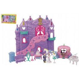 Teddies Hrad/palác pro princezny s doplňky 12ks plast 34x35cm na baterie se zvukem se světlem v krabici