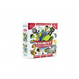 Teddies Kubíkovy hrátky se zvířátky společenská hra v krabičce 10,5x10,5cm Hmaťák