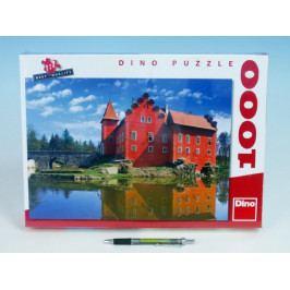 Dino Puzzle Zámek Červená Lhota 66x47cm 1000 dílků v krabici 37x27x5,5cm