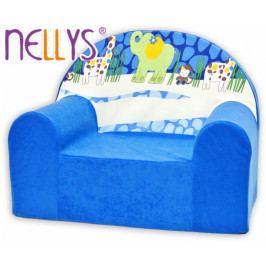 NELLYS Dětské křesílko/pohovečka Nellys ® - Safari v modré