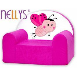 NELLYS Dětské křeslo Nellys - Beruška růžová