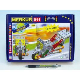 Merkur Toys Stavebnice MERKUR 011 Motocykl 10 modelů 230ks v krabici 26x18x5cm