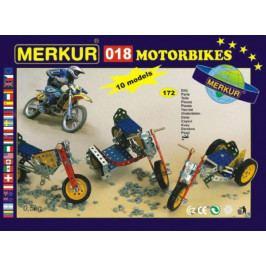 Merkur Toys Stavebnice MERKUR 018 Motocykly 10 modelů 182ks v krabici 26x18x5cm