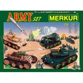 Merkur Toys Stavebnice MERKUR Army Set 657ks 2 vrstvy v krabici 36x27x5,5cm