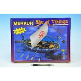 Merkur Toys Stavebnice MERKUR Age of Vikings 40 modelů 1350ks v krabici 36x27x5,5cm