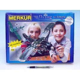 Merkur Toys Stavebnice MERKUR Flying wings 40 modelů 640ks v krabici 36x27x5cm