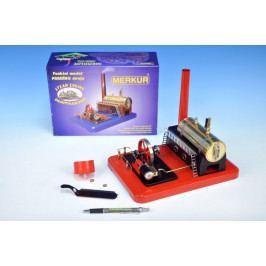 Merkur Toys Stavebnice MERKUR funkční model parního stroje Standart v krabici 28x11x20cm